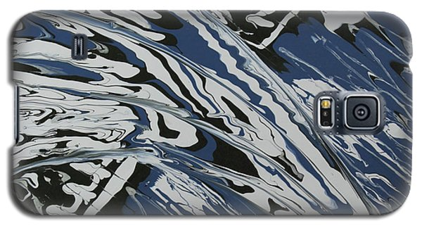 Galaxy S5 Case featuring the painting Rush Drip by Cathy Beharriell