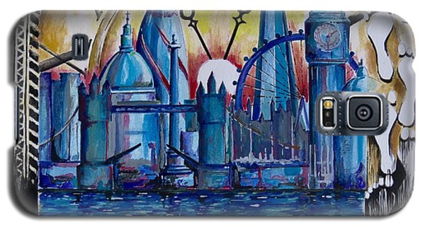 Galaxy S5 Case featuring the painting Rush Hour In London by Geni Gorani