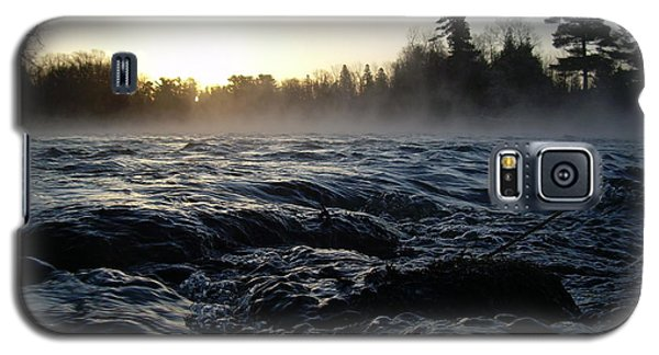 Rushing Water In Missississippi River Galaxy S5 Case by Kent Lorentzen