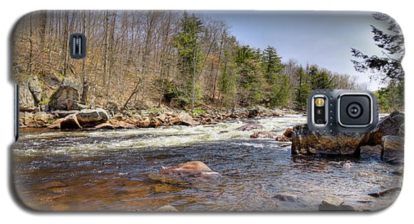 Galaxy S5 Case featuring the photograph Rushing Waters Of The Moose River by David Patterson