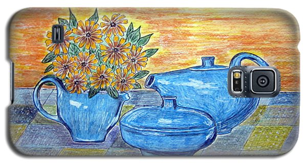 Galaxy S5 Case featuring the painting Russel Wright China  by Kathy Marrs Chandler