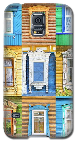 Galaxy S5 Case featuring the photograph Russian Windows by Delphimages Photo Creations