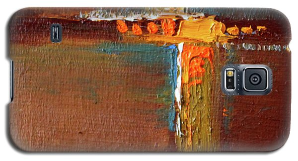 Galaxy S5 Case featuring the painting Rust Abstract Painting by Nancy Merkle