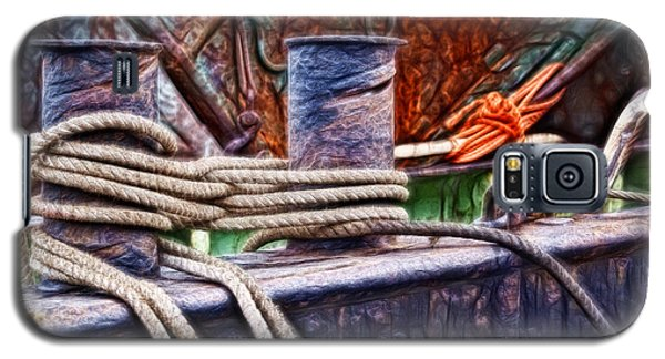 Galaxy S5 Case featuring the photograph Rust And Rope by Cameron Wood