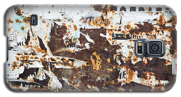 Galaxy S5 Case featuring the photograph Rust And Torn Paper Posters by John Williams