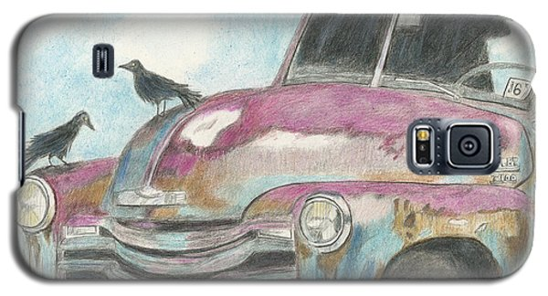 Galaxy S5 Case featuring the drawing Rust In Peace by Arlene Crafton