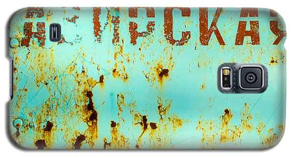 Galaxy S5 Case featuring the photograph Rust On Metal Russian Letters by John Williams