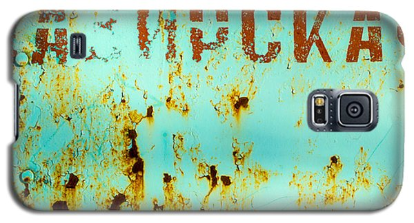 Rust On Metal Russian Letters Galaxy S5 Case
