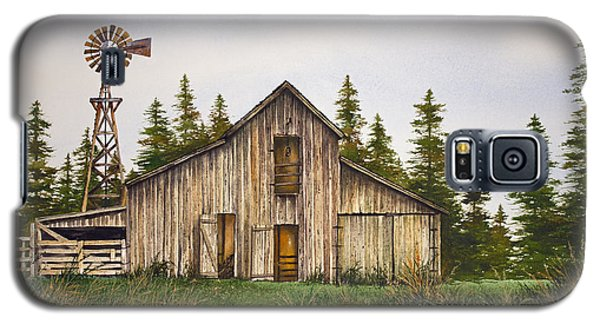 Galaxy S5 Case featuring the painting Rustic Barn by James Williamson