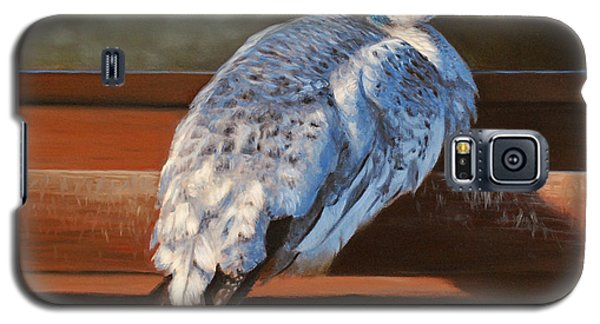 Rustic Elegance - White Peahen Galaxy S5 Case