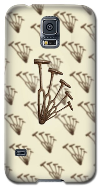 Galaxy S5 Case featuring the photograph Rustic Hammer Pattern by YoPedro