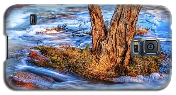 Galaxy S5 Case featuring the photograph Rustic Island, Noble Falls by Dave Catley