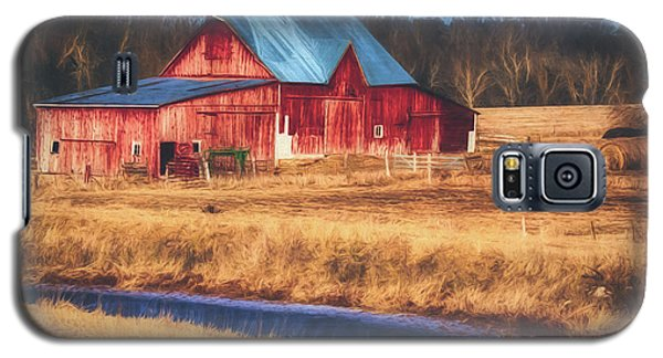 Rustic Red Barn Galaxy S5 Case