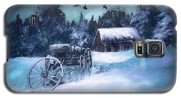 Rustic Winter Barn  Galaxy S5 Case