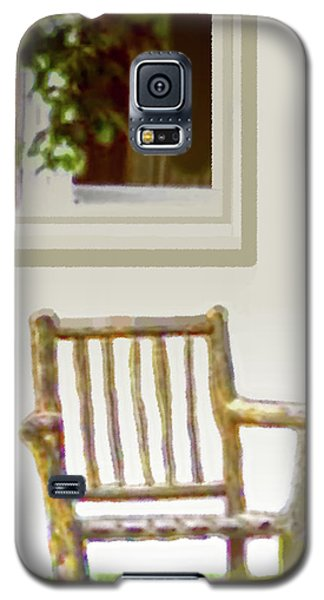 Rustic Wooden Rocking Chair Galaxy S5 Case