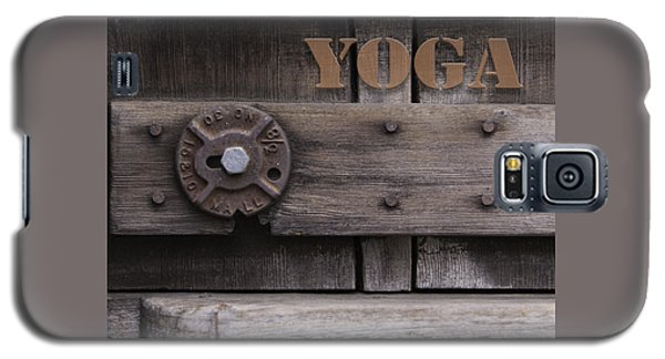 Rustic Yoga Galaxy S5 Case by Kandy Hurley
