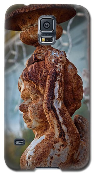 Galaxy S5 Case featuring the photograph Rusty Angel by Linda Unger