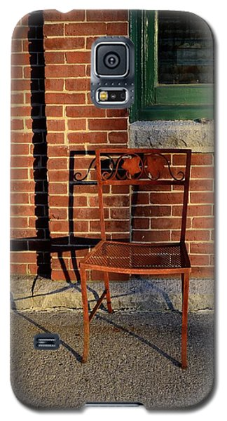 Galaxy S5 Case featuring the photograph Rusty Chair At Sunset by Corinne Rhode