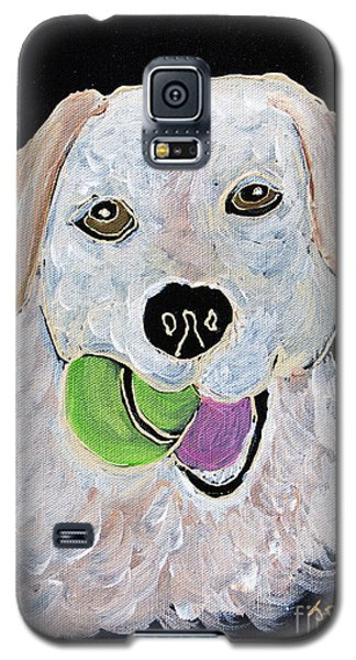 Galaxy S5 Case featuring the painting Rusty On Canvas by Janice Rae Pariza