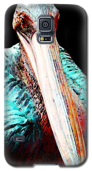 Rusty - Pelican Art Painting By Sharon Cummings Galaxy S5 Case by Sharon Cummings
