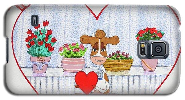 Ruthie-moo Happy Bovinetinesday Galaxy S5 Case