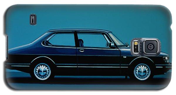 Car Galaxy S5 Case - Saab 90 1985 Painting by Paul Meijering