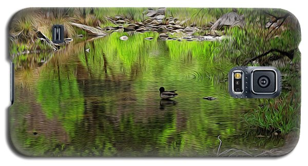Galaxy S5 Case featuring the photograph Sabino Reflection Op53 by Mark Myhaver