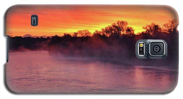 Sacramento River Sunrise Galaxy S5 Case