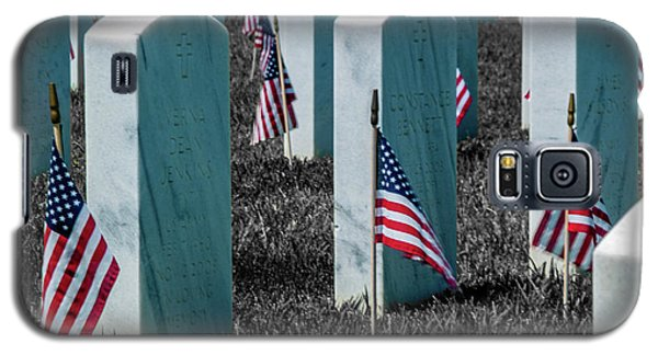 Galaxy S5 Case featuring the photograph Sacramento Valley Veterans Cemetary by Bill Gallagher