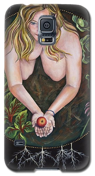 Galaxy S5 Case featuring the painting Sacred Circle 1 by Sheri Howe