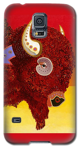 Galaxy S5 Case featuring the painting Sacred Monarch by Bob Coonts