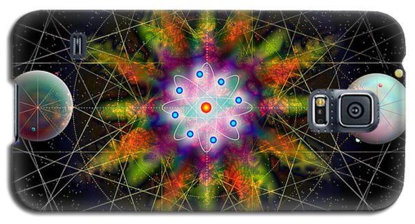 Sacred Planetary Geometry - Dark Red Atom Galaxy S5 Case by Iowan Stone-Flowers