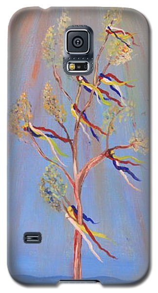 Galaxy S5 Case featuring the painting Sacred Sun Dance Tree by Kate Purdy