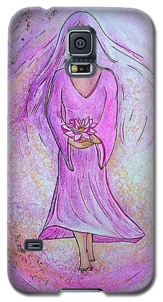 Galaxy S5 Case featuring the painting Sacred Woman by Gioia Albano