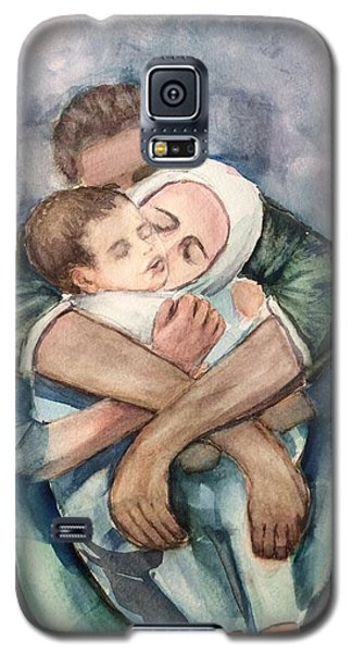 Galaxy S5 Case featuring the painting The Saddest Moment by Laila Awad Jamaleldin