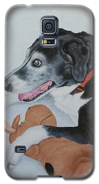 Galaxy S5 Case featuring the painting Sadie by Mike Ivey