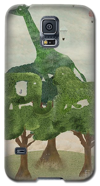Galaxy S5 Case featuring the painting Safari Wood by Bri B
