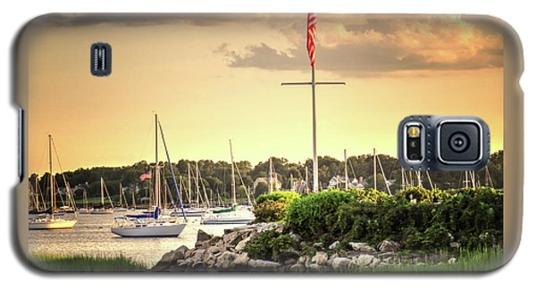 Galaxy S5 Case featuring the photograph Safe Harbor Bristol Ri by Tom Prendergast