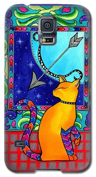Sagittarius Cat Zodiac Galaxy S5 Case