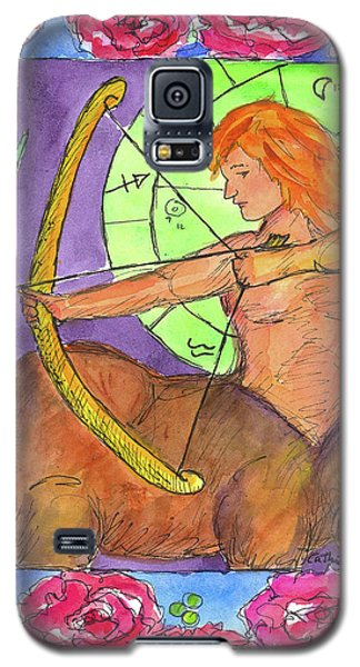 Galaxy S5 Case featuring the painting Sagittarius by Cathie Richardson