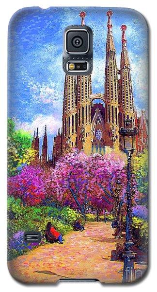 Sagrada Familia And Park,barcelona Galaxy S5 Case by Jane Small