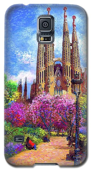 Barcelona Galaxy S5 Case - Sagrada Familia And Park Barcelona by Jane Small