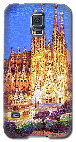 Sagrada Familia At Night Galaxy S5 Case by Jane Small