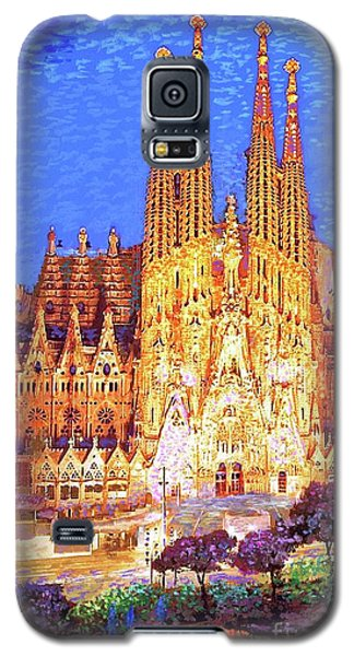 Barcelona Galaxy S5 Case - Sagrada Familia At Night by Jane Small