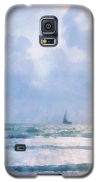 Galaxy S5 Case featuring the digital art Sail At Sea by Francesa Miller