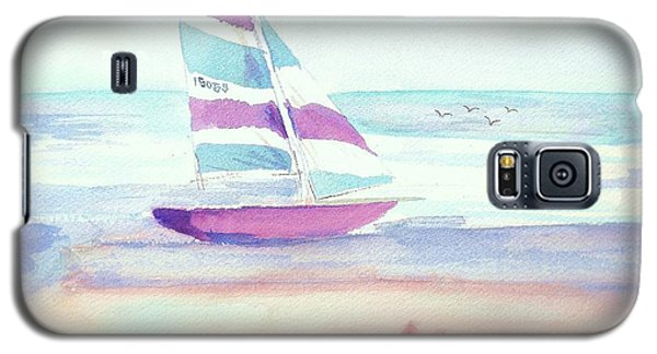 Galaxy S5 Case featuring the painting Sail Away by Denise Fulmer