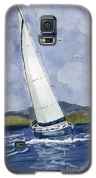 Galaxy S5 Case featuring the painting Sail Away by Eva Ason