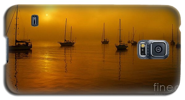 Sail Boats In Fog Galaxy S5 Case by Trena Mara