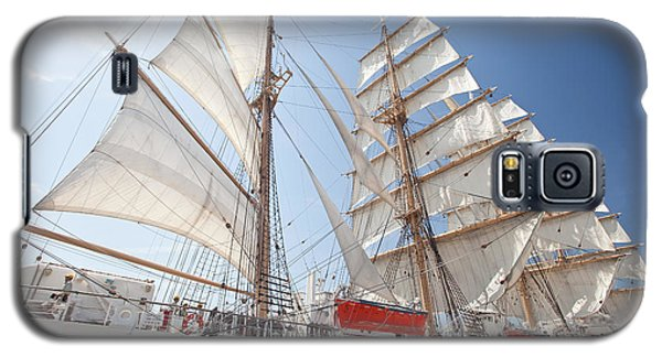 Galaxy S5 Case featuring the photograph Sail Training Ship Nippon Maru by Aiolos Greek Collections