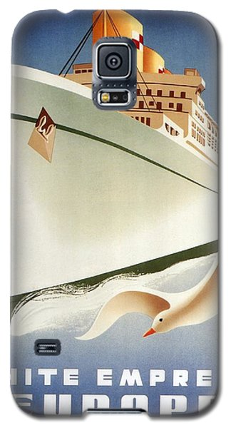 Sail White Empress To Europe - Canadian Pacific - Retro Travel Poster - Vintage Poster Galaxy S5 Case